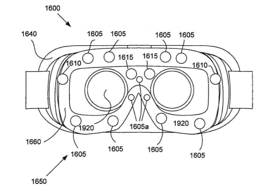 samsung-patent-bio-sensors-gear-vr Samsung patent toont Gear VR met positie-, gezichts- en oogtracking
