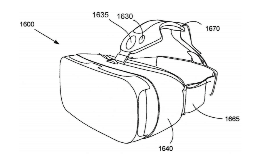 samsung-patent-gear-vr-tracking Samsung patent toont Gear VR met positie-, gezichts- en oogtracking