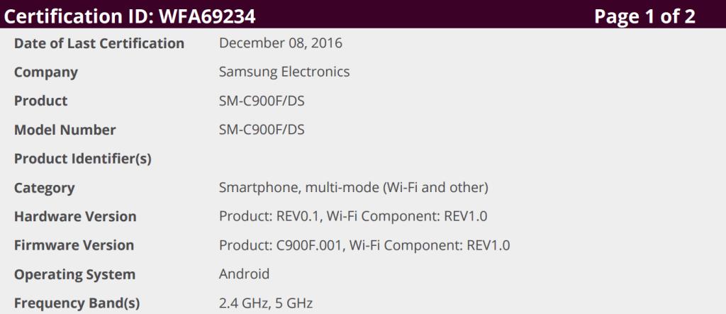 C9-Pro-1024x443 Wi-Fi certificatie duikt op van een mogelijk internationale versie van de Galaxy C9 Pro