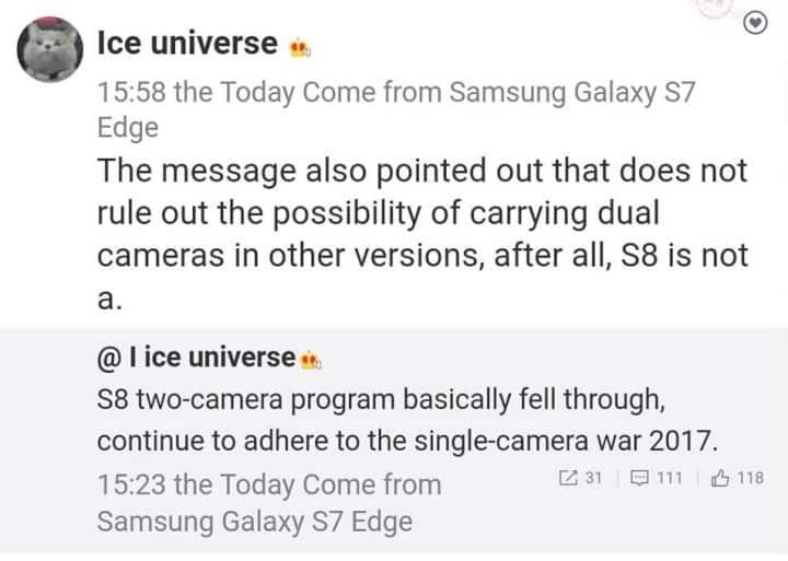 galaxy-s8-single-cam-geen-dual Mogelijk toch geen dual camera voor de Galaxy S8