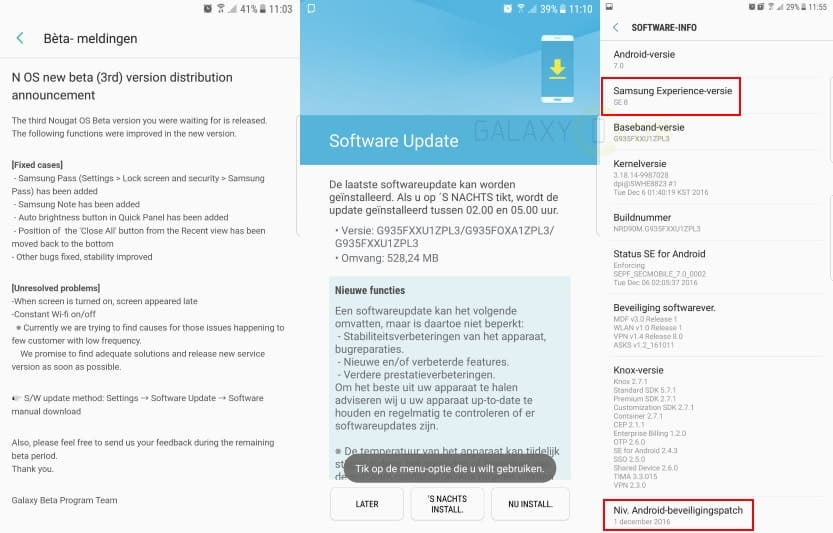 samsung-galaxy-s7-nougat-beta-samsung-experience-interface-se-8 Fikse update voor de Galaxy S7 (Edge) Android Nougat beta: TouchWiz wordt Samsung Experience, premium Cloud