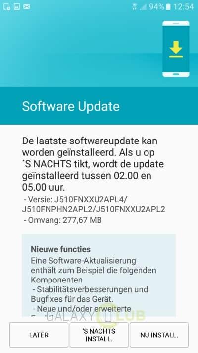galaxy-j5-2016-update-december-patch-1 Update met security patch van december voor de Galaxy J5 (2016)
