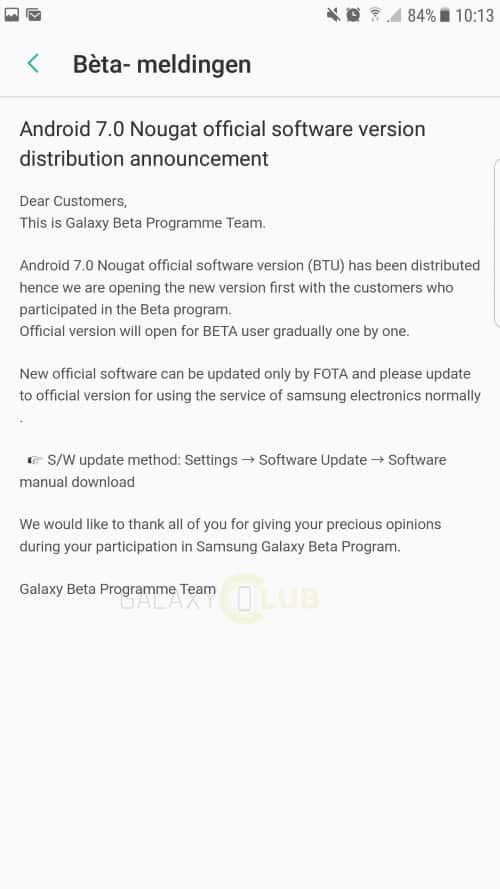 galaxy-s7-edge-android-7-nougat-uitrol-officieel-1 Samsung kondigt officiële uitrol Android 7.0 Nougat update Galaxy S7 en S7 Edge aan (update: van start)