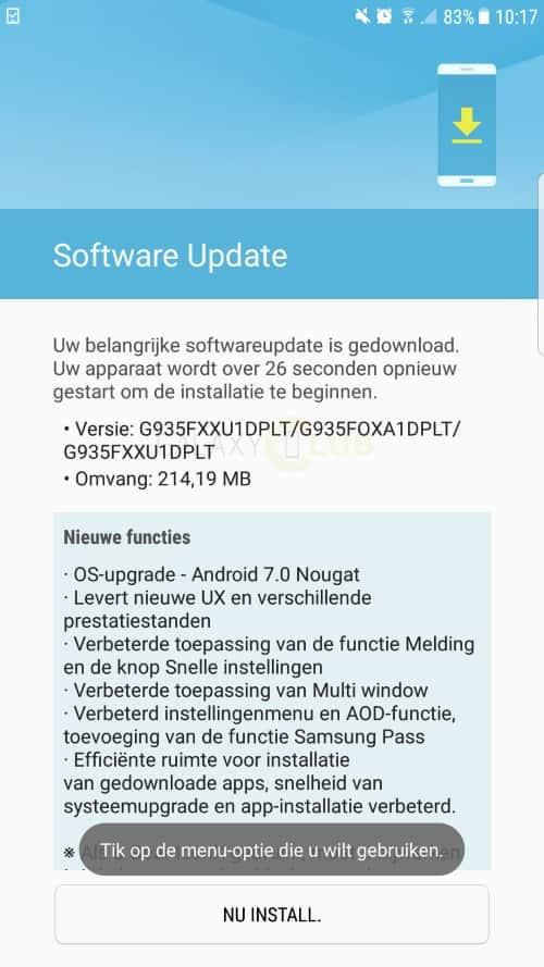 galaxy-s7-edge-android-7-nougat-uitrol-officieel-3 Samsung kondigt officiële uitrol Android 7.0 Nougat update Galaxy S7 en S7 Edge aan (update: van start)