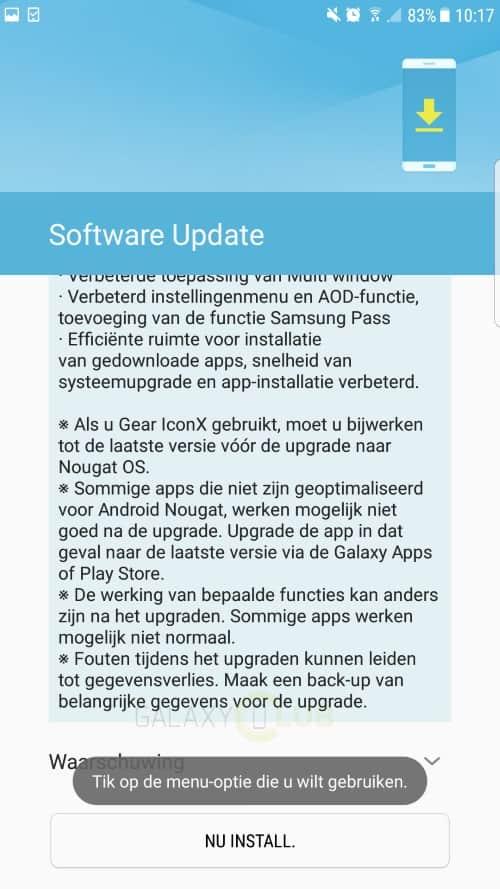 galaxy-s7-edge-android-7-nougat-uitrol-officieel-4 Samsung kondigt officiële uitrol Android 7.0 Nougat update Galaxy S7 en S7 Edge aan (update: van start)