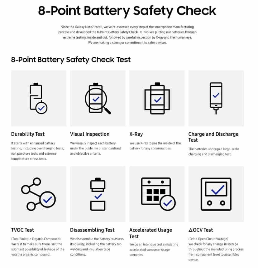 samsung-8-punt-batterij-veiligheidscheck Nu officieel: Galaxy Note 7 problemen veroorzaakt door ontwerp- en productiefouten accu