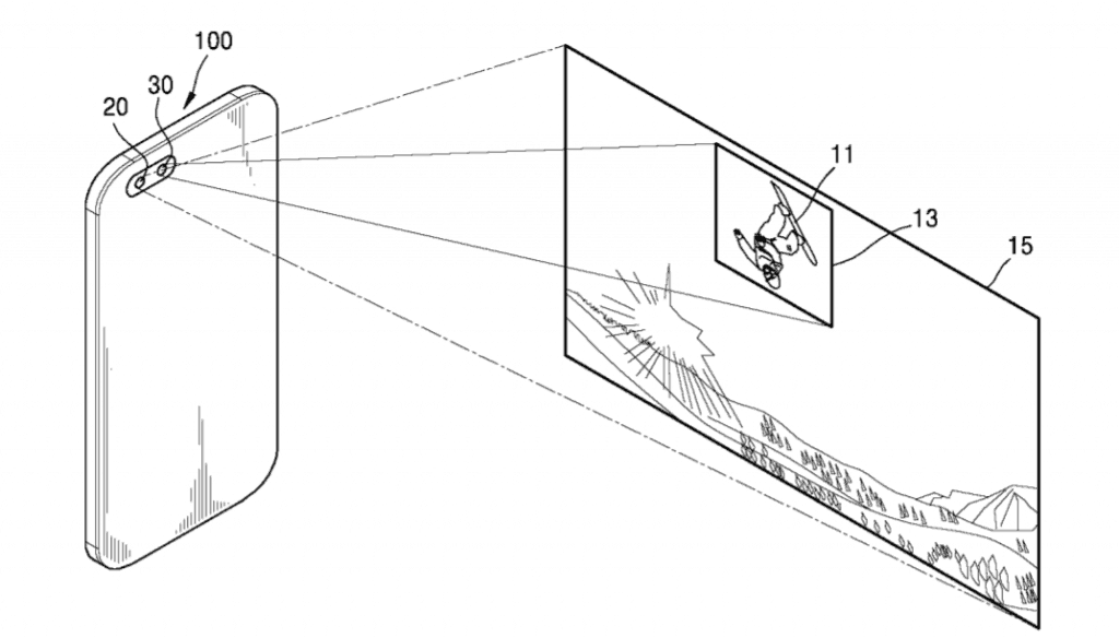 samsung-dual-lens-camera-patent-wide-angle-telephoto-1-1024x584 Patentaanvraag toont Samung's idee voor een dual lens camera