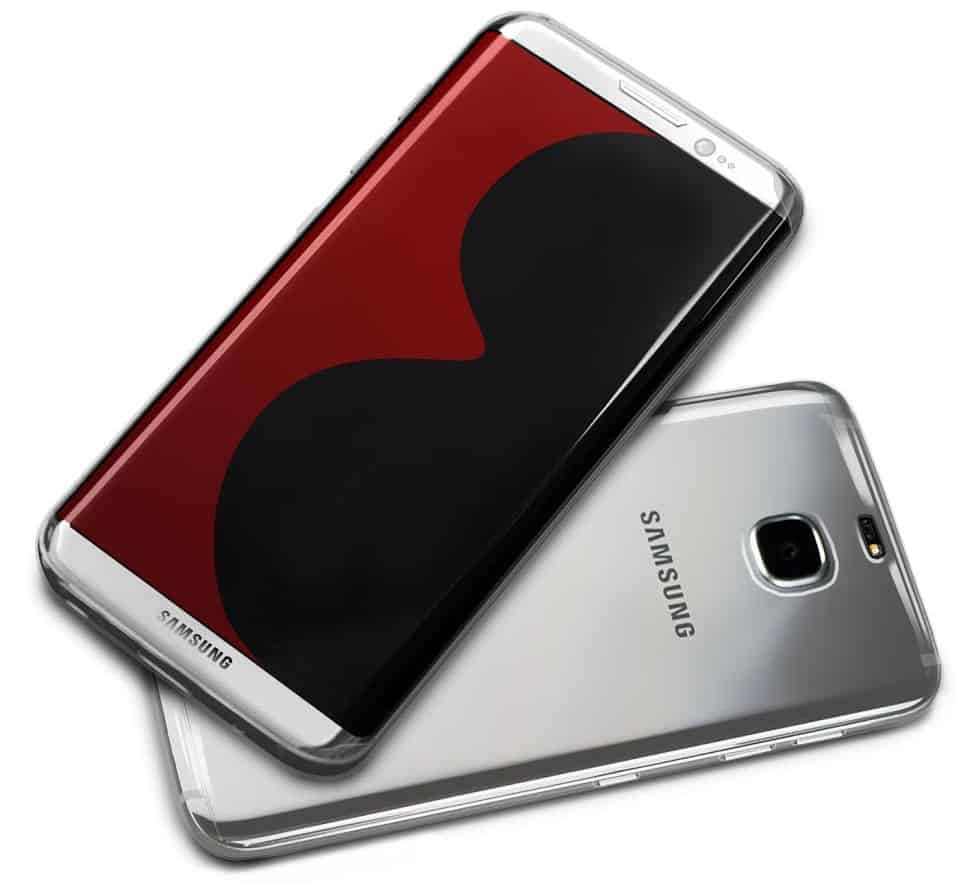 samsung-galaxy-s8-render Hoesjesmakers maken renders, suggereren Galaxy S8 met 3,5mm jack en stereo speakers (update)