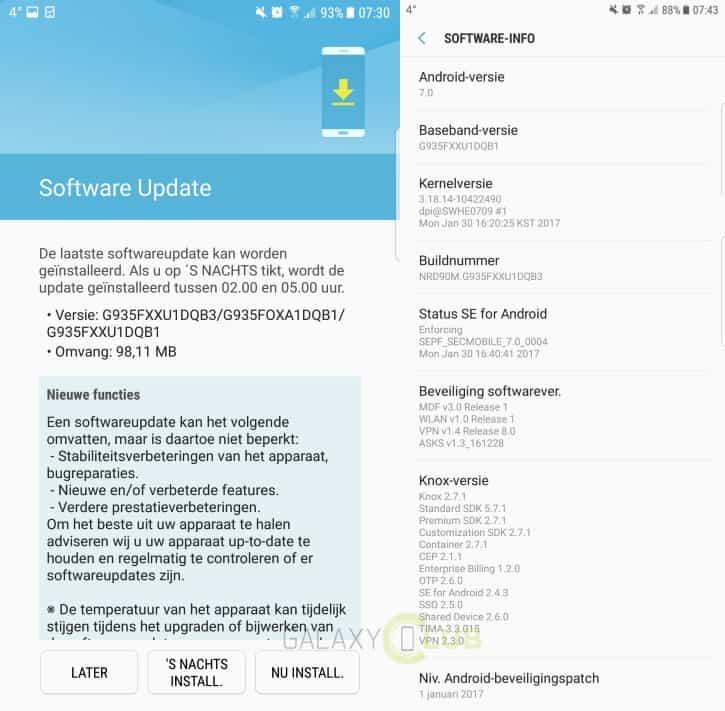 galaxy-s7-edge-bugfix-update-xxu1dqb3 Samsung rolt elders bugfix update uit voor Galaxy S7 (Edge) met Nougat