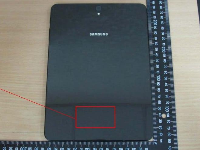 galaxy-tab-s3-achter Foto's Galaxy Tab S3 laten behuizing zien met glas aan de achterkant
