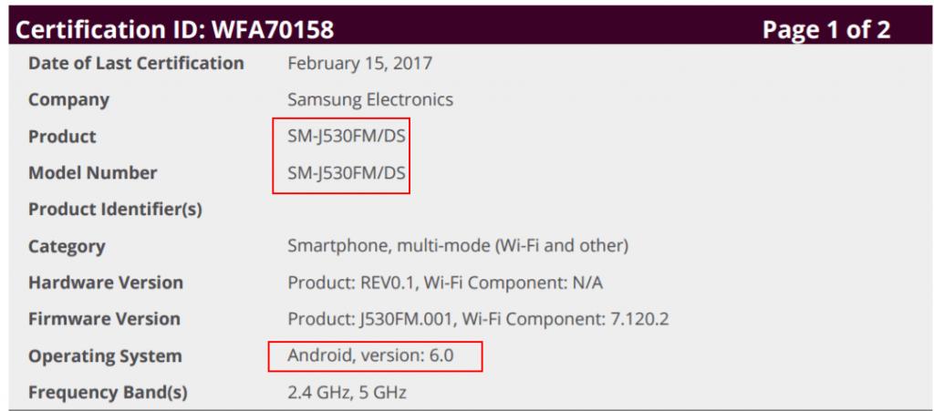 samsung-galaxy-j5-2017-wifi-cert-1024x451 Samsung Galaxy J5 (2017) duikt op, draait op Android 6.0