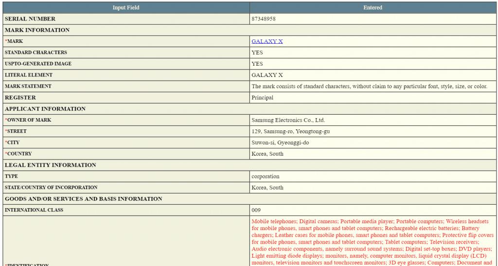 samsung-galaxy-x-trademark-uspto-1024x547 Merknaamregistratie bevestigt komst Samsung Galaxy X (update 2-3: nu ook in de VS)