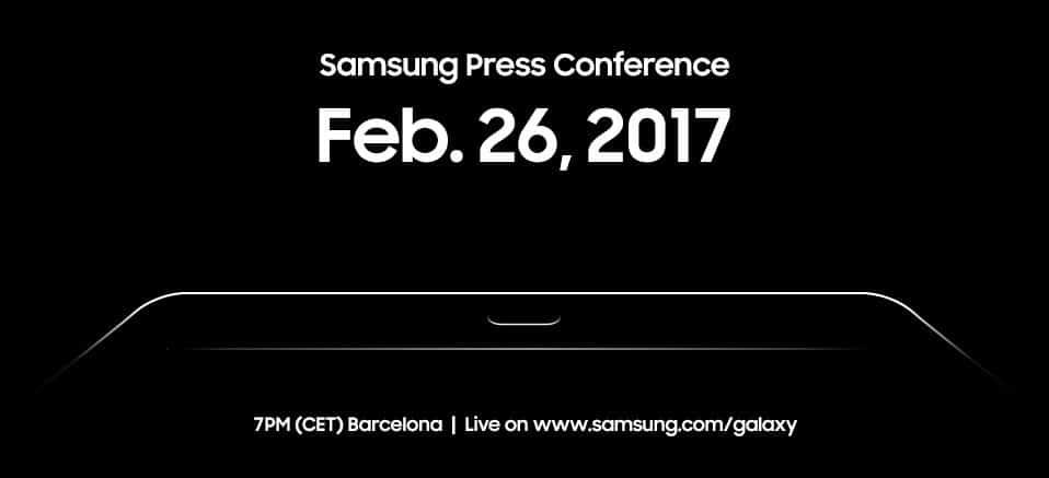 samsung-mwc-conference-galaxy-tab-s3 Samsung kondigt persevenement op 26 februari aan, hallo Galaxy Tab S3