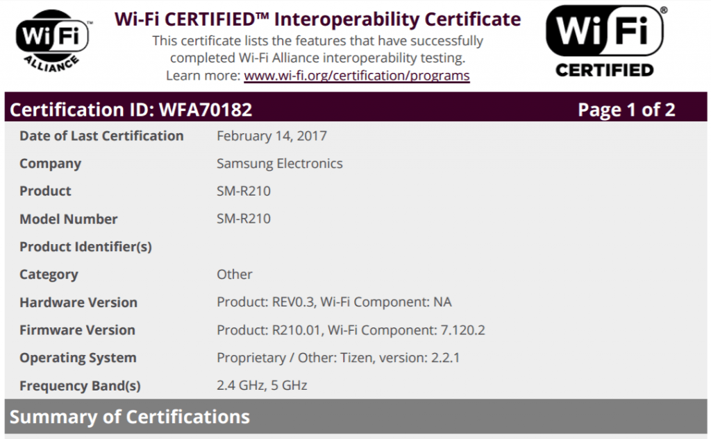 samsung-sm-r210-wifi-tizen-cert-1024x633 Is dit de Samsung Hello, een concurrent voor Amazon's Echo en Google Home?