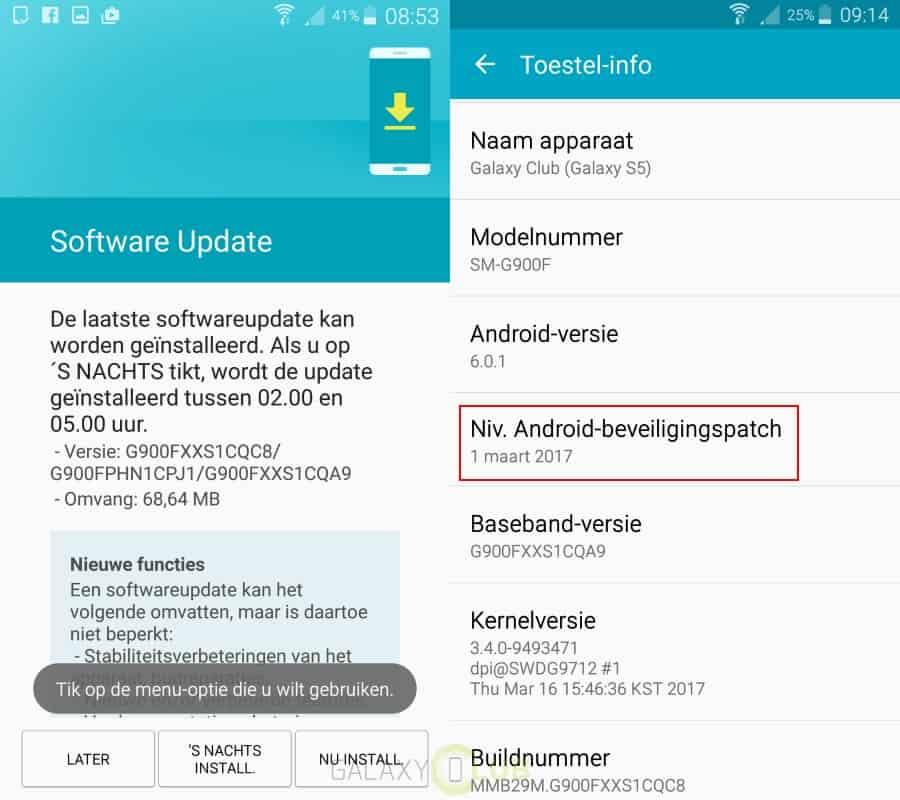 galaxy-s5-update-maart-patch-xxs1cqa9 Maart security patch arriveert op Galaxy S5 (update: en op de S5 Plus SM-G901F)
