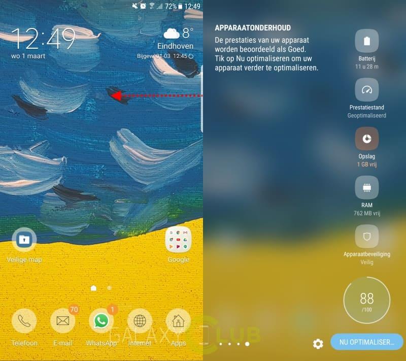 galaxy-s7-edge-nougat-tip-edge-apparaatonderhoud Galaxy S7 Edge met Nougat tip: check het Apparaatonderhoud edge-scherm