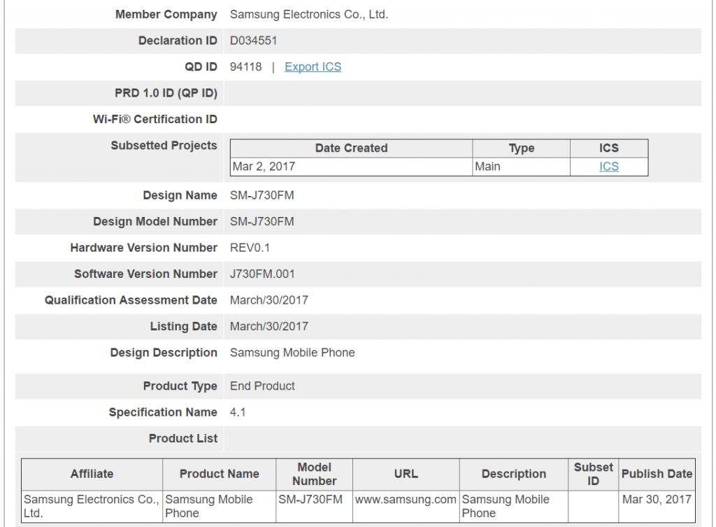 galaxy-j7-2017-bluetooth-sig-1024x753 Amerikaanse FCC toont eerste glimp design Galaxy J7 (2017) (en vermoedelijk ook de Galaxy J5 2017)