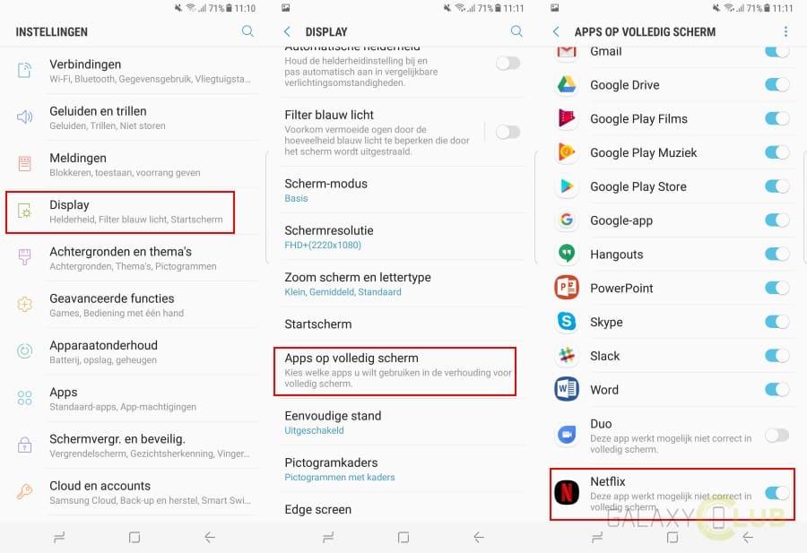 galaxy-s8-plus-netflix-volledig-scherm-apps-fullscreen Galaxy S8 en Galaxy S8 Plus tips en trucs voor een goede start