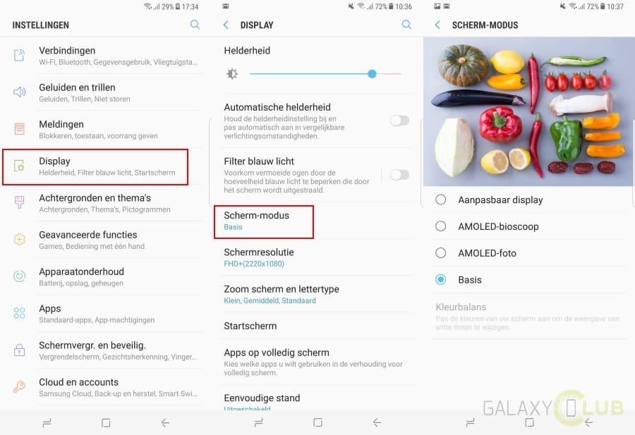 galaxy-s8-plus-tip-schermmodus-kleurweergave-instellen Galaxy S8 en Galaxy S8 Plus tips en trucs voor een goede start