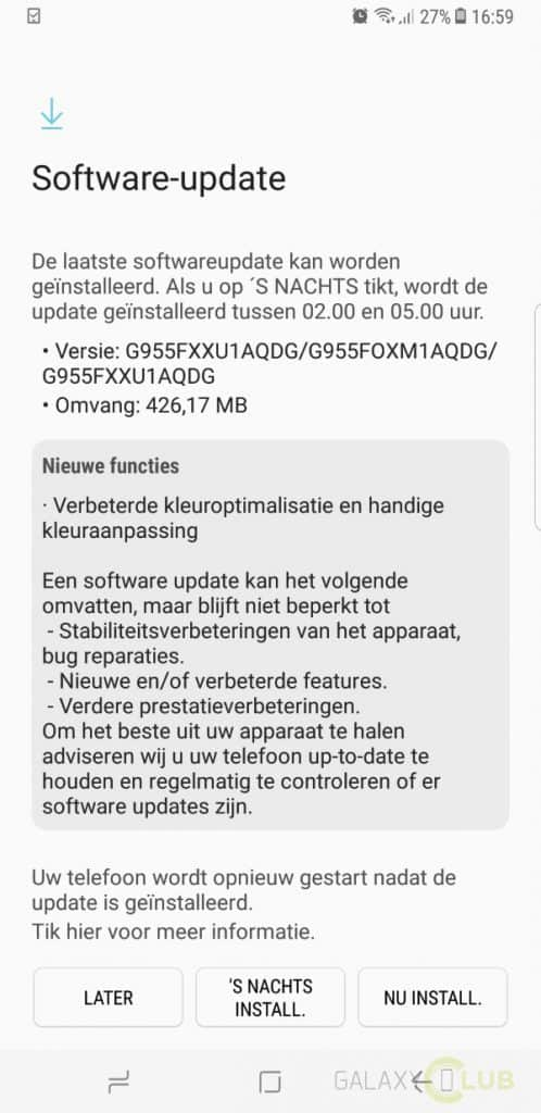 galaxy-s8-plus-update-fix-rood-scherm-498x1024 Samsung rolt update met fix voor rode schermtint Galaxy S8 (Plus) uit - update: nu in Nederland (unbranded en Vodafone)