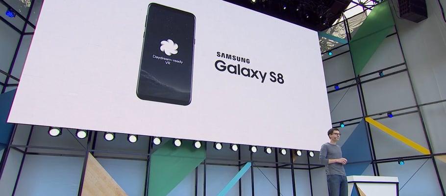 galaxy-s8-daydream-vr Samsung Galaxy S8 (Plus) wordt ook 'Daydream-ready'