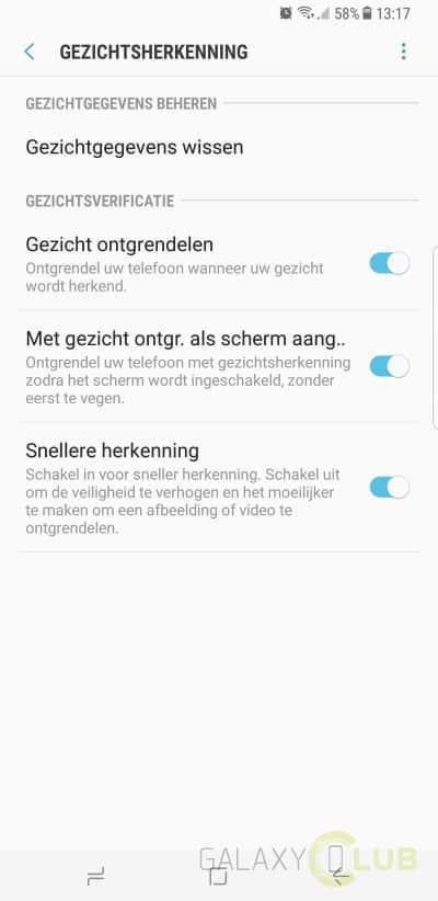 Samsung Galaxy S8 review gezichtsherkenning