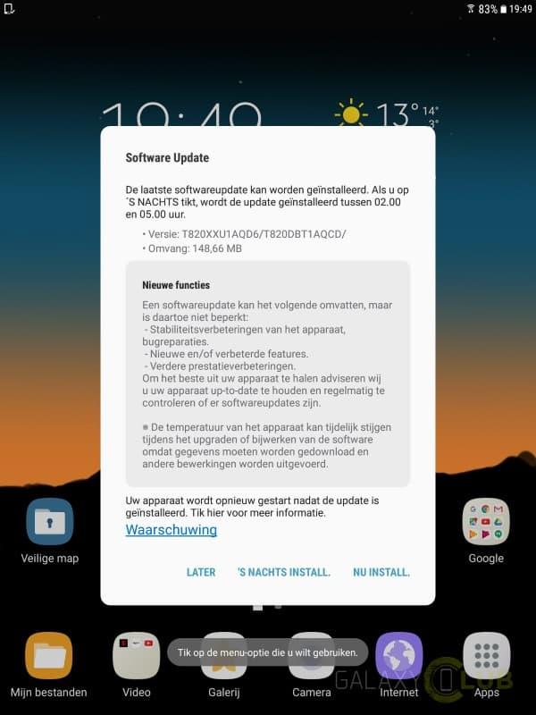 galaxy-tab-s3-update-april-patch-xxu1aqd6-1 Galaxy Tab S3 krijgt eerste echte firmwareupdate, april security patch