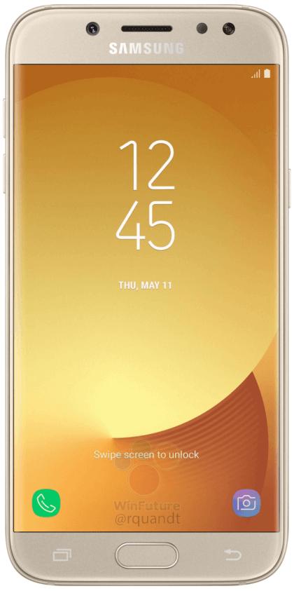 samsung-galaxy-j5-2017-goud-voor Renders Samsung Galaxy J5 (2017) duiken op