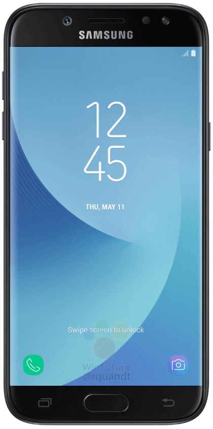 samsung-galaxy-j5-2017-zwart-voor Renders Samsung Galaxy J5 (2017) duiken op