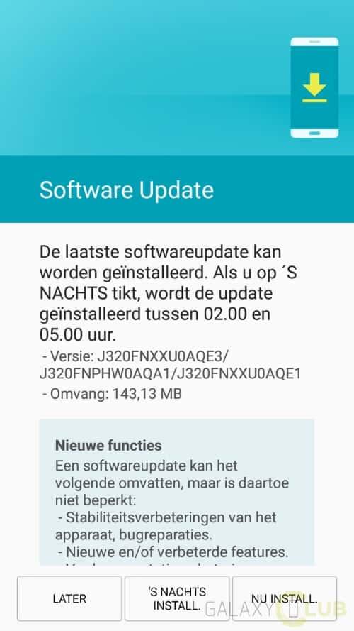galaxy-j3-2016-update-mei-patch Galaxy J3 (2016) krijgt update met mei security patch