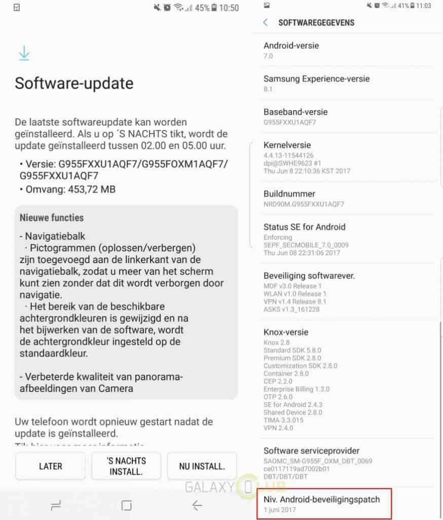 galaxy-s8-update-juni-patch-g955fxxu1aqf7-874x1024 Samsung Galaxy S8 update brengt juni patch, verbeterde navigatiebalk, camera (update: unbranded)