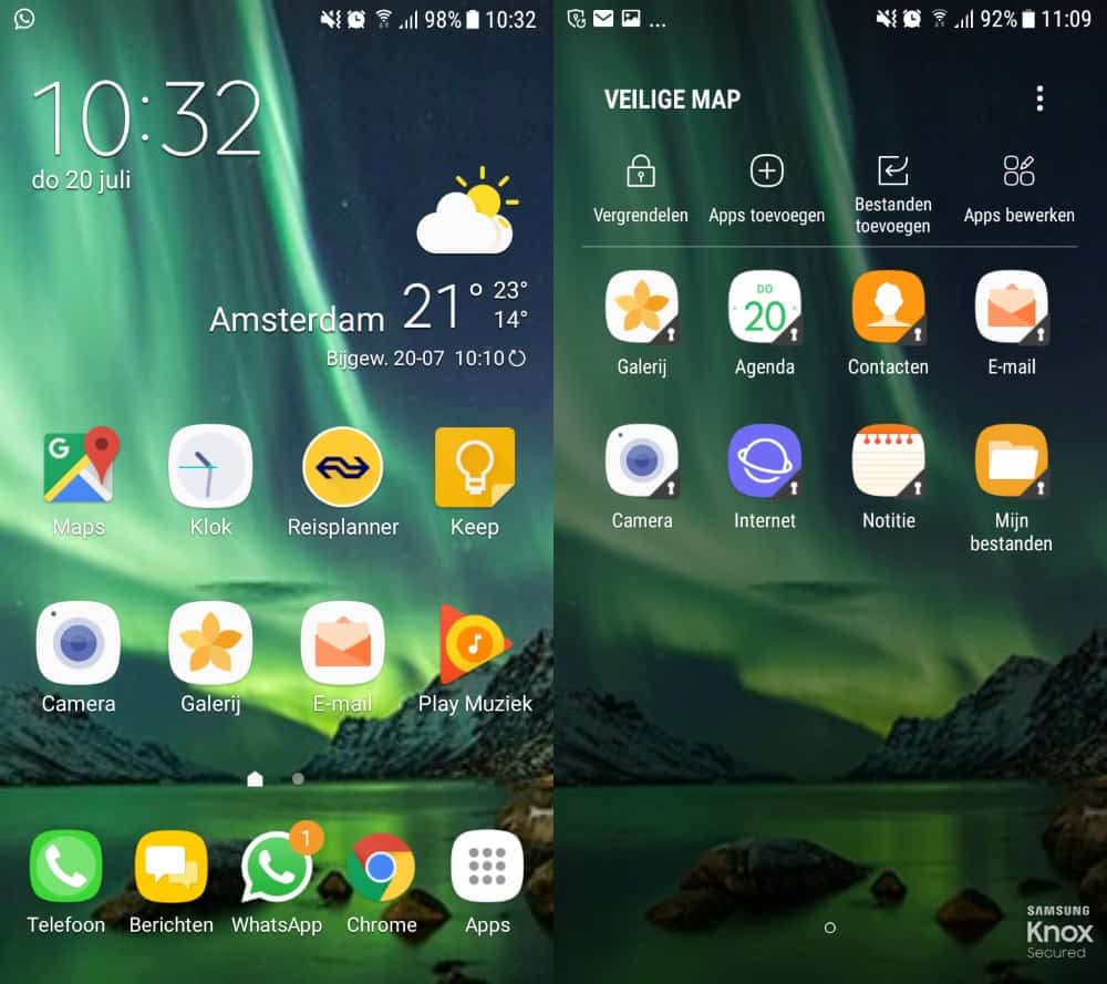 galaxy-a3-2016-nougat-ux-veilige-map Galaxy A3 (2016) Android 7.0 Nougat update arriveert in Nederland (update: unbranded)