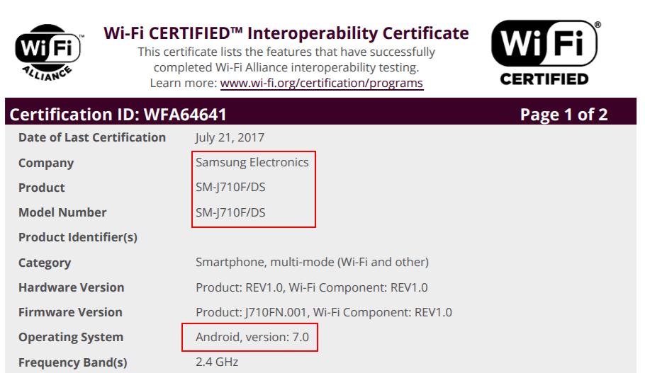 galaxy-j7-2016-android-7-update-wifi Android 7.0 Nougat update in de startblokken voor: Galaxy A3 (2017), Galaxy J7 (2016), en de Galaxy Tab A 8.0 (2015)