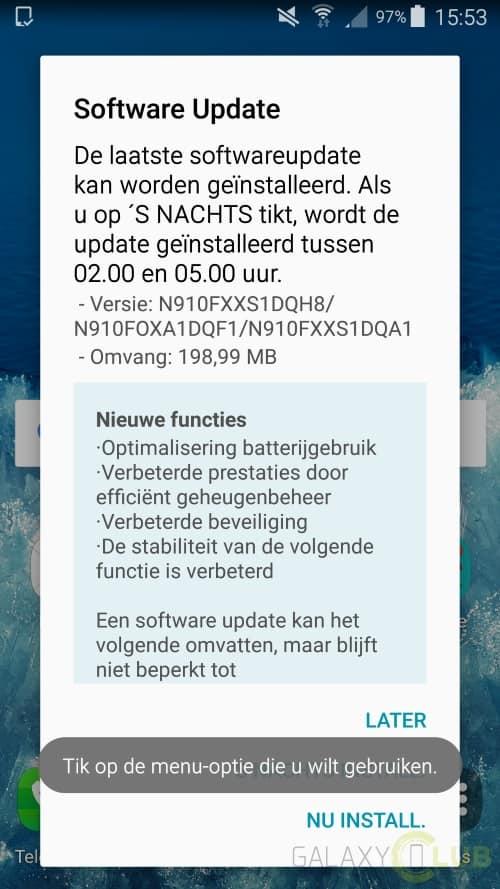 galaxy-note-4-augustus-update Galaxy Note 4 krijgt ook beveiligingsupdate augustus