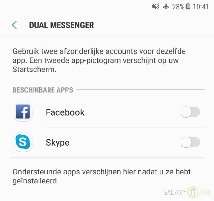 galaxy-note-8-dual-messenger Galaxy Note 8 heeft ook de Dual Messenger functie