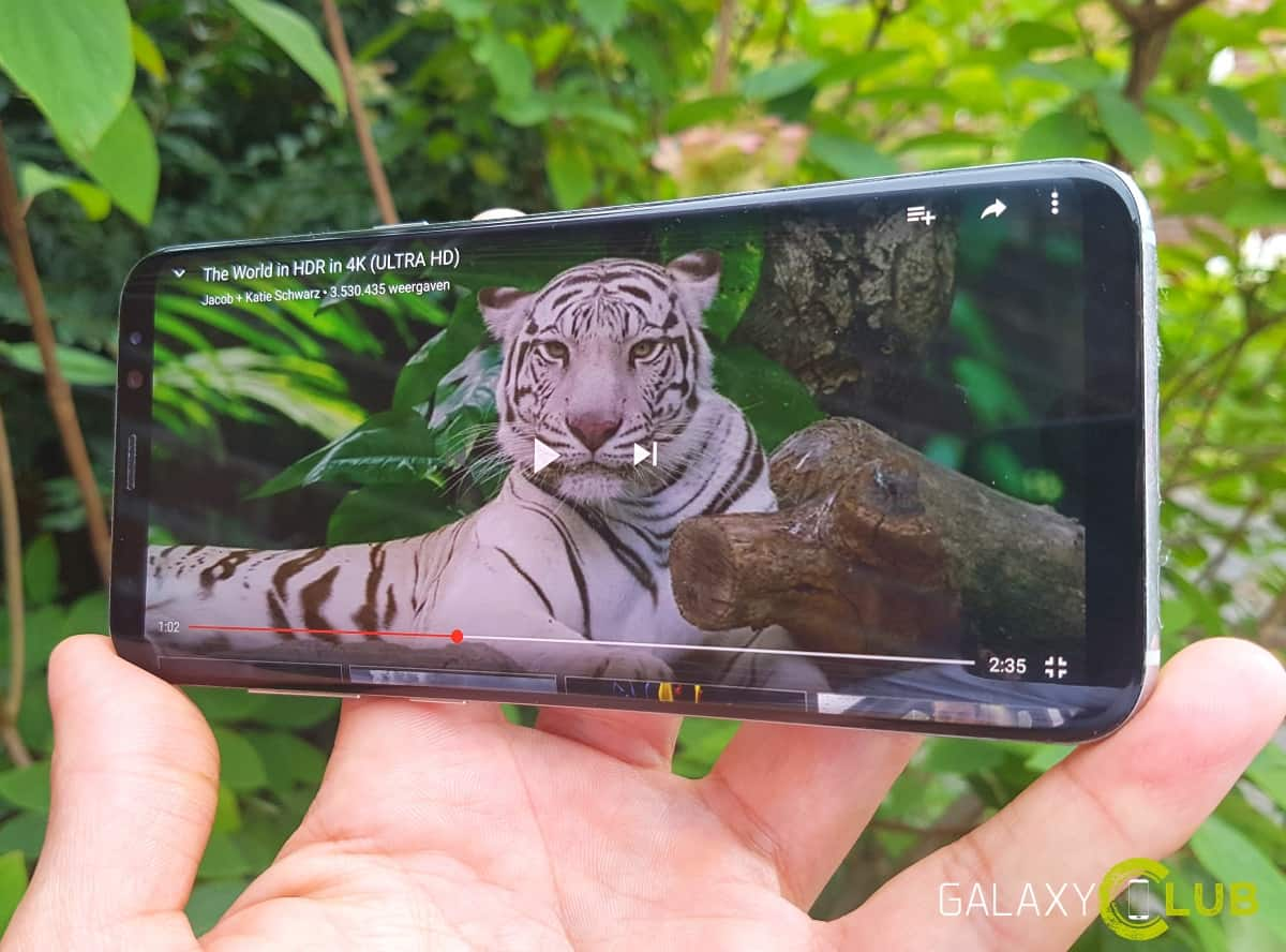 galaxy-s8-hdr-video-youtube Galaxy S8 (Plus) tip: update Youtube en kijk HDR video