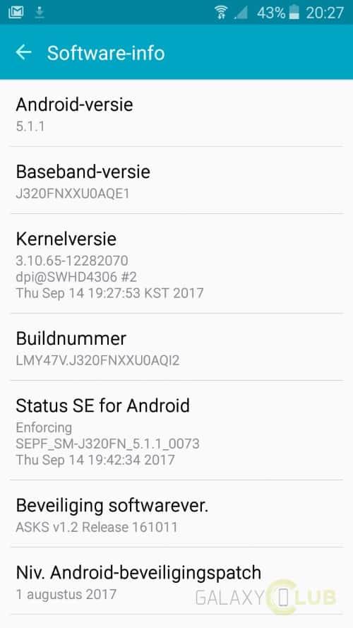 galaxy-j3-2016-update-augustus-j320fnxxu0aqi2 Galaxy J3 (2016) krijgt beveiligingspatch augustus, Blueborne fix