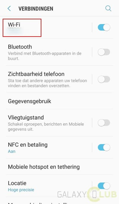 Verificatiefout wifi samsung s9