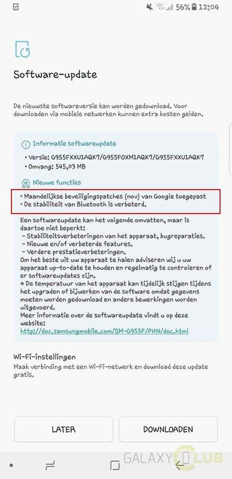 galaxy-s8-november-update-3 Samung Galaxy S8 november update beschikbaar in Nederland, incl. Krack fix
