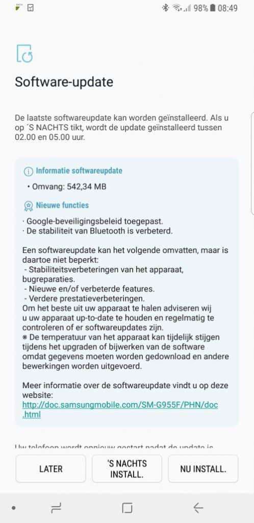 galaxy-s8-december-update-498x1024 Samsung rolt december update Galaxy S8 (Plus) uit