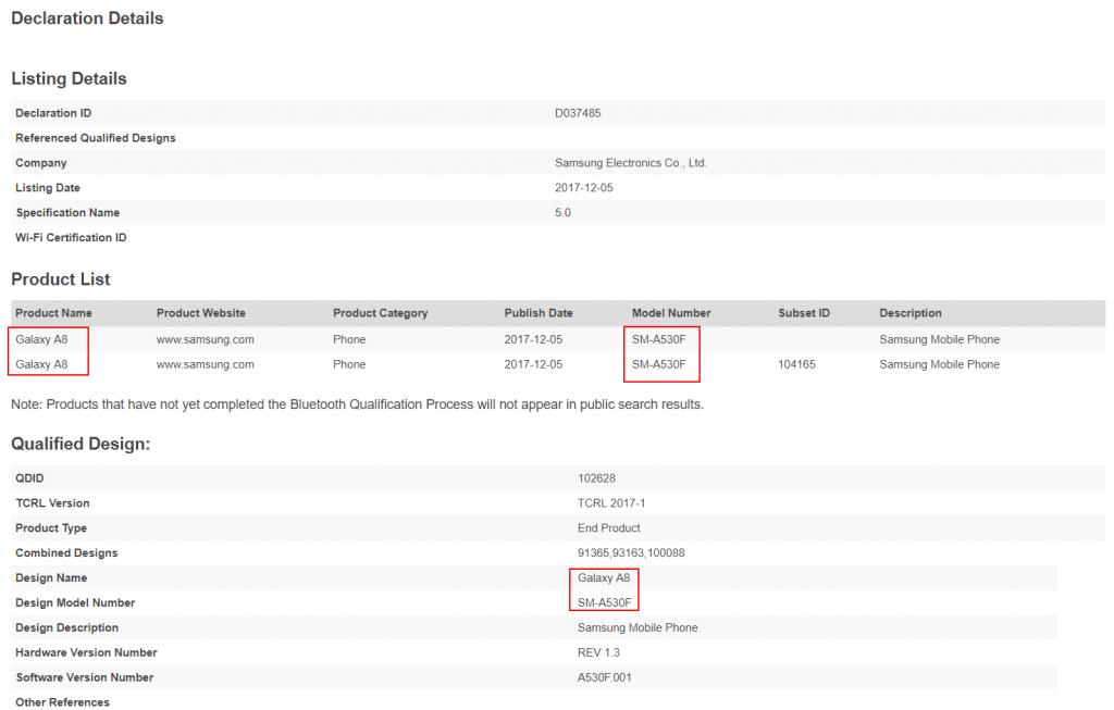 samsung-galaxy-a8-bt-sig-1024x653 Samsung Galaxy A8 naamgeving bevestigd door certificatie