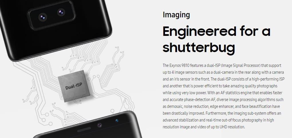 exynos-9810-camera Trademark hint mogelijk naar betere camera Samsung Galaxy S9