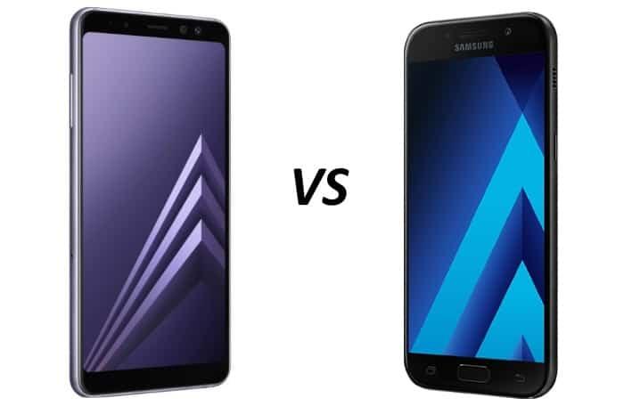 galaxy-a8-versus-a5-2017-vergelijking Vergelijking: Samsung Galaxy A8 (2018) versus Galaxy A5 (2017)