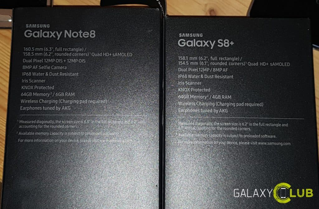 galaxy-note-8-s8-box-doos-1024x671 Foto toont Samsung Galaxy S9 verpakking: stereo speakers, f/1.5 diafragma