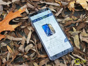 Galaxy A8 review design voor