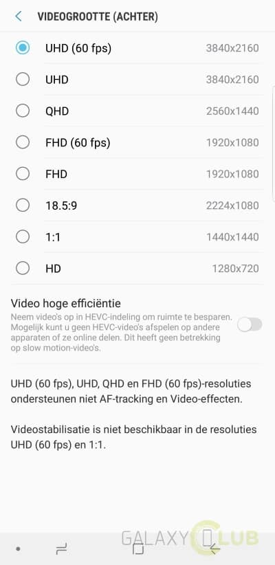 galaxy-s9-camera-tips-video-4k-uhd-60fps-2 Galaxy S9 (Plus) camera tips: zo maak je de mooiste foto's