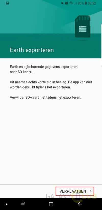Tip Galaxy S9 A8 Apps Verplaatsen Naar Sd Kaart Of Juist Niet