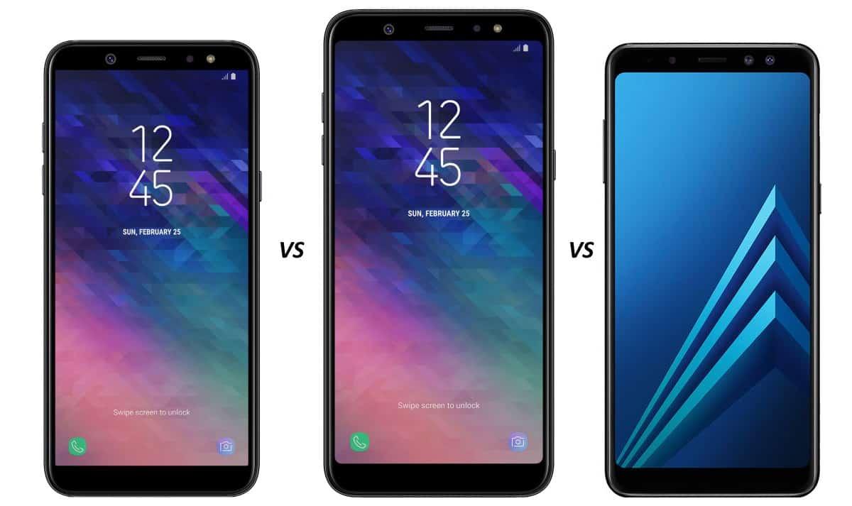 Vergelijking en verschillen: Galaxy A6 (Plus) versus ...