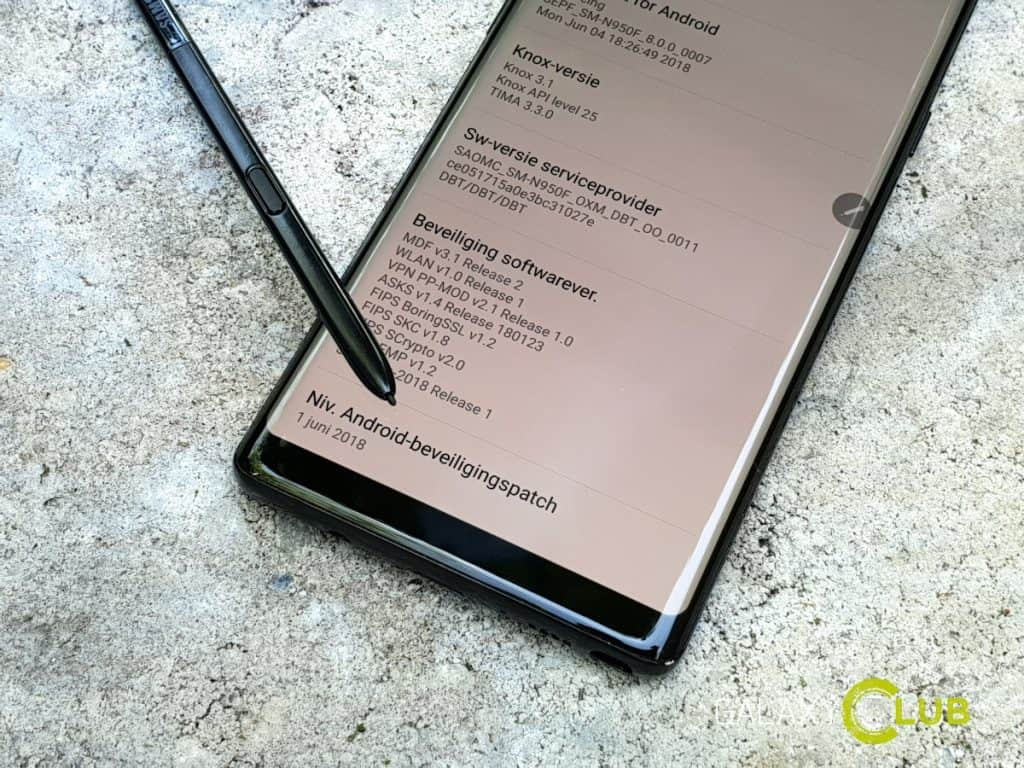 samsung galaxy note 8 update juni 2018