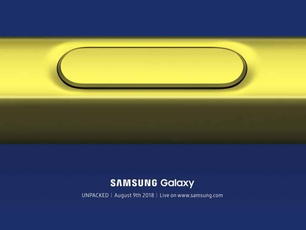 galaxy note 9 unpacked datum lancering